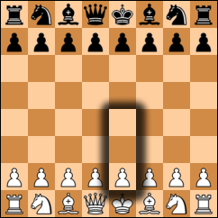 How pawn moves in chess board